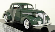 Motormax 1/24 Scale - 1939 Chevrolet Coupe Green Diecast model car