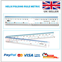 30CM HELIX Folding Ruler Transparent Quality School Metric Rule - CM / MM