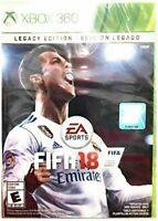XBOX 360 VIDEO GAME FIFA 18 LEGACY EDITION SOCCER 18 BRAND NEW AND SEALED