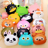 Cute Silicone Cartoon Animal Hasp Clutch Change Coin Purse Wallet Pouch Bag Case