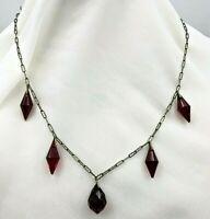 Circa 1920's - 1940's Czech Glass Necklace # 279