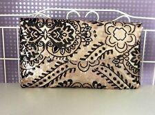 Sequin encrusted vintage metallic wedding or special occasion clutch bag