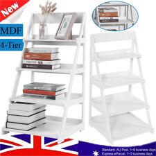 4-Tier Wooden Ladder Shelf Stand Storage Book Shelves Shelving Display Rack