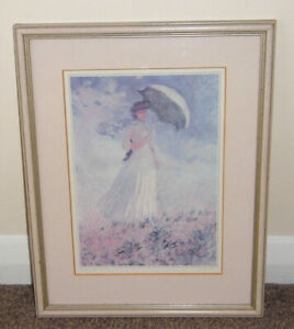 """Monet Framed Print - Woman with a Parasol 11"""" x 14"""""""