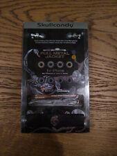 Vintage Skullcandy Full Metal Jacket Earbuds Black with Aluminum Braided Cable N