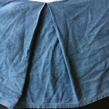 WOOLRICH Denim Bedskirt Blue Full/Double
