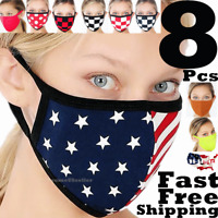 8 Face Masks American Flag Christmas Men Women Unisex Cover Clothing Mask Cloth