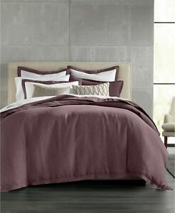 Hotel Collection 100% Linen 102 Thread Count Duvet Cover - KING - Wine
