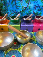 More details for brass singing bowls various sizes, tibetan meditation gift, chakra reiki healing