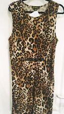Print Fusion Embellished Waist Pleat Detail Dress Size XL
