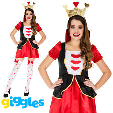 Queen of Hearts Costume Fairytale Outfit Womens Fancy Dress World Book Week Day