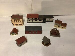 N Gauge Trackside Buildings - Job Lot of eight