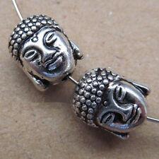 PJ91/6pc Retro Tibetan Silver Buddha head Spacer Beads Accessories Findings