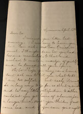 New listing Civil War Letter Emma Stiles to General Dutton 105th Illinois Infantry Sycamore