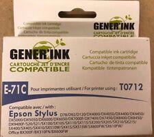 Cartouche d'encre générique pour imprimantes Epson T0712