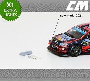 Extra Lights Rallye 1/43 Lamp Pods P13 Hyundai i20 Wrc 2018