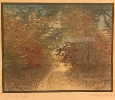 """A Rain of Gold"" by Wallace Nutting Signed and Framed 9 1/4"" x 7 3/8"""
