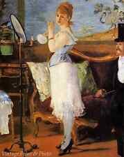 Nana by Edouard Manet - Art Woman Dressing Lingerie Boudoir   8x10 Print 0274