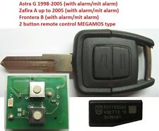 opel zafira astra MEGAMOS Schlüssel Funkschlüssel Fernbedienung TRANSPONDER ID40