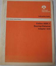 Collins 998K-1Bearing/Distance Adapter Unit Original Instruction Book