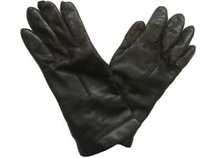 """Italian LEATHER GLOVES CHOCOLATE BROWN CASHMERE/ WOOL LINING Small Size 6.5"""""""