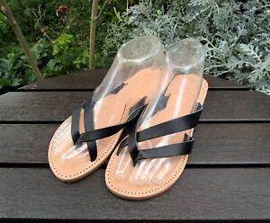Handmade Greek Leather Sandals, Women's Multi Strap Thong Sandals