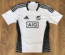 New Zealand Sevens All Blacks Adidas Adizero rare white rugby shirt size S
