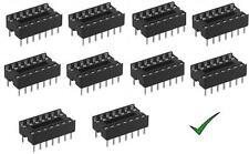 10pz zoccoli 14 pin per circuiti integrati 7+7 pin DIL passo 2,54mm