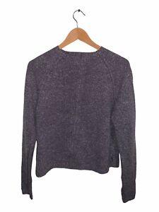 Woolrich Womans Full Zip Cardigan Jumper Long Sleeve Plum Size M
