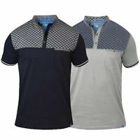 Mens Polo T Shirt D555 Duke Short Sleeved Chambray Collared Big King Size Summer