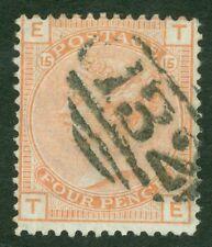 SG 152 4d vermilion. Very fine used '132' numeral (Brighton) CAT £525