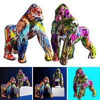 Graffiti gorille Figurine Sculpture Statue résine artisanat décoration de
