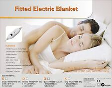 Digilex King Size Washable  Fitted Polyester Electric Blanket With Controllers