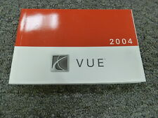 2004 Saturn Vue SUV Owner Owner's Manual User Guide Book CVT AWD V6 2.2L 3.5L