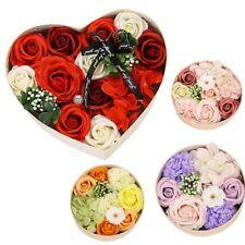 Luxury Handmade Soap Flower Bouquet Roses Carnations Gift Box Wedding Home Decor