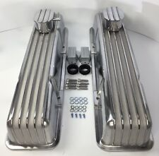 Small Block Chevy Tall Aluminum Finned Valve Covers w/ Breather & PCV (1957-86)