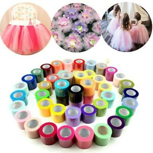 "2""x 25YD Tutu Tulle Roll Soft Netting Graft Fabric Nylon Wedding Favor Decor"