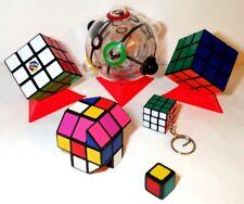 9 artículos: 1x1x1 Cubo Rubik Barril Llavero Original 360 Esfera Bola De Rompecabezas Vintage