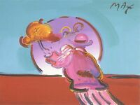 PETER MAX POSTER -UMBRELLA MAN- UNSIGNED -18 X 24-ct#26