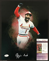 OZZIE SMITH SIGNED ST LOUIS CARDINALS 11X14 PHOTO PADRES WIZARD JSA WP PROOF J47