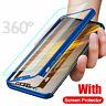 Per Samsung Galaxy Nota 10 più S10 A20E 360° Protect Cover Slim + Vetro Temprato