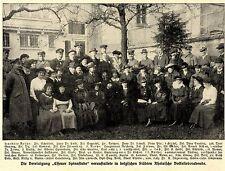 Gruppenbild * Die Vereinigung ESSENER SPINNSTUBE in Belgienl Bilddokument 1917