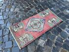 Vintage rug, Carpet, Turkish  natural dyed rug, %100 wool rug | 1,5 x 3,2 ft