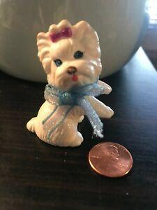 Barbie Doll Loving Family Diorama Miniature White Toy Shih Tzu Dog