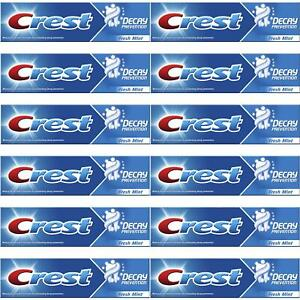 12 x Crest Decay Prevention Toothpaste, Cavity Protection - Fresh Mint - 100ml