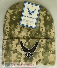 CAMO U.S. AIR FORCE USAF WINGS EMBLEM BEANIE KNIT WINTER WARM WATCH CAP SKI HAT