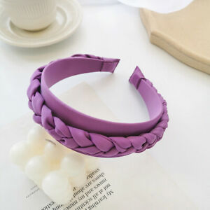 Thick Padded Velvet Fabric Hairband for Women Braided Hair Hoop Hair Accessories