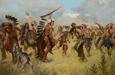 """Victory Dance, Little Big Horn, 1876"" Z. S. Liang Limited Edition Giclee Canvas"