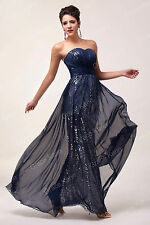 Long Wedding Bridesmaid Formal Gown Ball Party Evening Maxi Dress Masquerade US