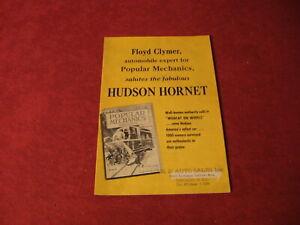 1952 Hudson Sales Brochure old Original Catalog Booklet